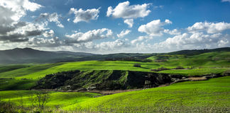 Beautiful green hills in Tuscany Royalty Free Stock Images