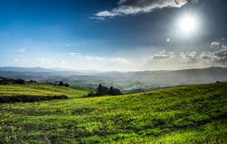 Beautiful green hills in Tuscany Royalty Free Stock Photo