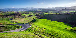 Beautiful green hills in Tuscany Royalty Free Stock Photos
