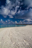 Beautiful green lagoon beach, Maldives Royalty Free Stock Images