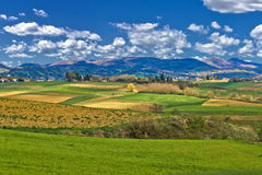 Beautiful green landscape under blue sky. Prigorje, Croatia Stock Images