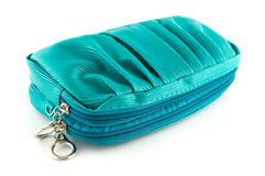 Beautiful green leather woman bag  Royalty Free Stock Photography