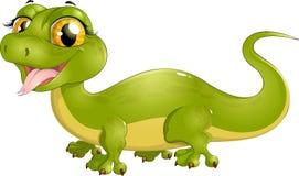 Beautiful green lizard Stock Photos