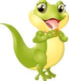 Beautiful green lizard Royalty Free Stock Image