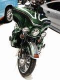Beautiful green motorcycle Royalty Free Stock Image