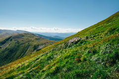 Beautiful green mountain landscape Stock Image