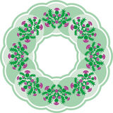 Beautiful green round vignette in Celtic style Royalty Free Stock Photos