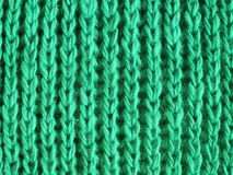 Beautiful green soft knit scarf Royalty Free Stock Photography