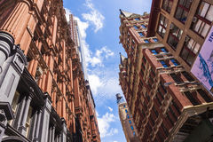 Beautiful Green Street in Manhattan with old houses, New York Stock Photos