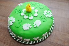 Beautiful green tasty cake Stock Image