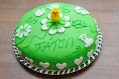 Beautiful green tasty cake Royalty Free Stock Image