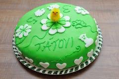 Beautiful green tasty cake Royalty Free Stock Image