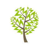 Beautiful Green Tree Icon on a White Background Royalty Free Stock Image