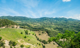 Beautiful green valley near the town of Honda Royalty Free Stock Photo