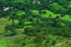 Beautiful green village scene Royalty Free Stock Photo
