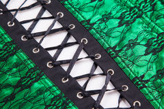 Beautiful green vintage corset Royalty Free Stock Photography