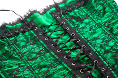 Beautiful green vintage corset Stock Photos