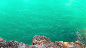 Beautiful green waters of river in canyon stock footage