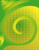 Beautiful green and yellow background  with dots Stock Images