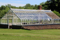 Beautiful greenhouse out in open sunshine Stock Photo
