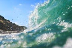 Beautiful greenish wave Royalty Free Stock Images
