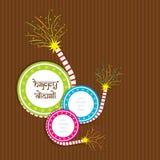 Creative happy diwali festival greeting design Royalty Free Stock Photos