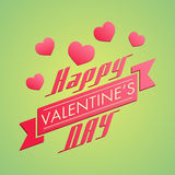 Beautiful greeting card design for Happy Valentines Day celebrat Royalty Free Stock Images
