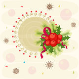 Beautiful greeting card design for Merry Christmas celebrations Stock Image