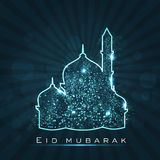 Beautiful greeting card for Eid Mubarak Stock Photos