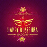 Beautiful Greeting card for Happy Dussehra. Stock Images