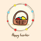 Beautiful greeting card for Happy Easter celebration. Royalty Free Stock Photos