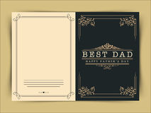 Beautiful greeting card for Happy Fathers Day. Royalty Free Stock Photo