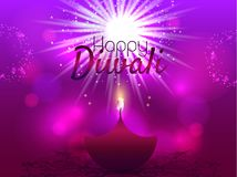 Beautiful greeting card for Hindu community festival Diwali / Happy Diwali festival background illustration / Diwali. Beautiful greeting card for Hindu community Stock Photo