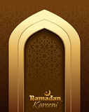 Beautiful greeting card for holy month Ramadan. Royalty Free Stock Photography