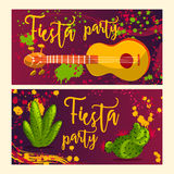 Beautiful greeting card, invitation for fiesta festival. Stock Photography