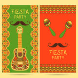Beautiful greeting card, invitation for fiesta festival. stock illustration