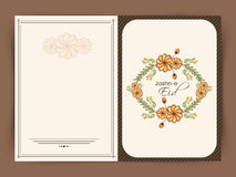 Beautiful greeting card for Jashn-e-Eid celebration. Stock Image