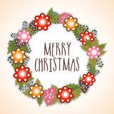 Beautiful greeting card for Merry Christmas. Royalty Free Stock Image