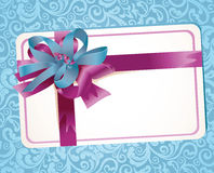 Beautiful greeting card with ribbons Royalty Free Stock Image