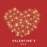 Beautiful greeting card for Valentines Day celebration. Stock Photos