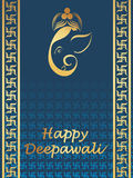 Beautiful greeting cards for diwali celebration Stock Image