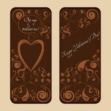 Beautiful greeting cards Royalty Free Stock Image
