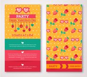 Beautiful greeting or invitation cards with stock illustration