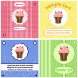Beautiful greeting labels, cards Stock Photo