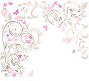 Beautiful greeting pink lacy card Stock Photography