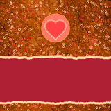 Beautiful greeting vintage Valentine`s card. EPS 8 Royalty Free Stock Photos