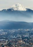 Beautiful Grenoble From Bastille, France Royalty Free Stock Image