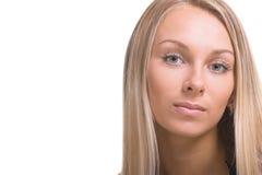 Beautiful grey eyes. Portrait of the beautiful girl with grey eyes Royalty Free Stock Photo