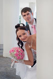 Beautiful groom and bride Royalty Free Stock Image