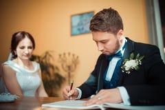 The beautiful groom Stock Photo